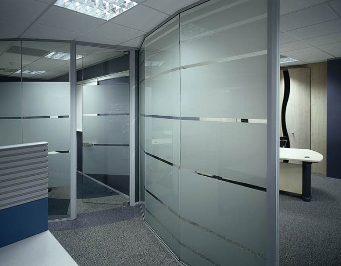 Office Partitions Glazed Screen Solid Wall Partitions